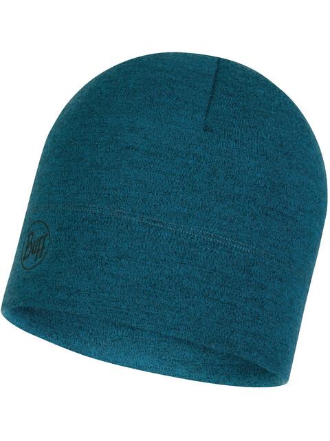 Buff Midweight Merino Wool Hat Ocean Melange